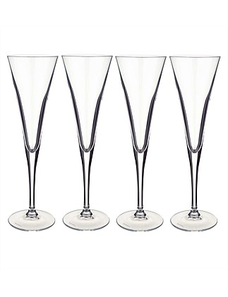 Purismo Champagne Flute 245mm Set of 4