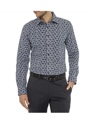 Cinque Terre Print Super Slim Fit Shirt