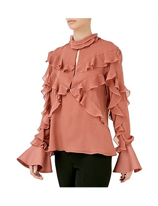 Ruffled Layered Top