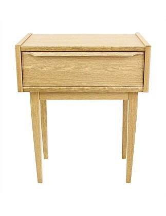 'Avoca' Bedside Table with 1 Drawer - Oak