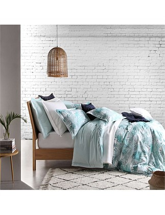 PALMS TEAL QUILT COVER SET - KING
