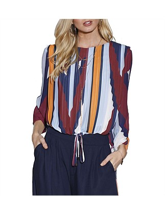 Mosaic Muse Pleated Top