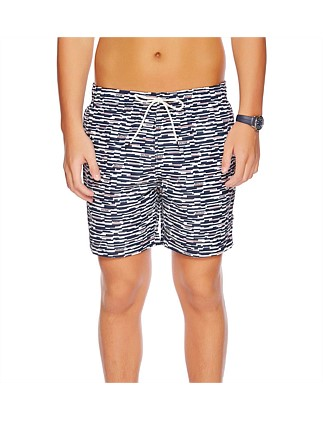 "17"" Stripe Swim Short"