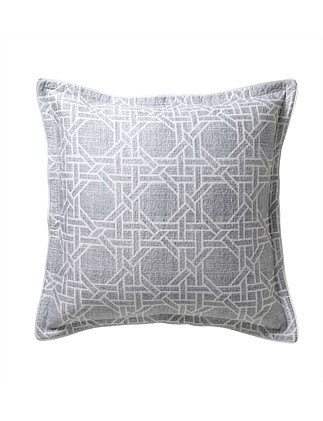 OCTAGONAL LATTICE SILVER QUILTED EUROPEAN PILLOWCASE
