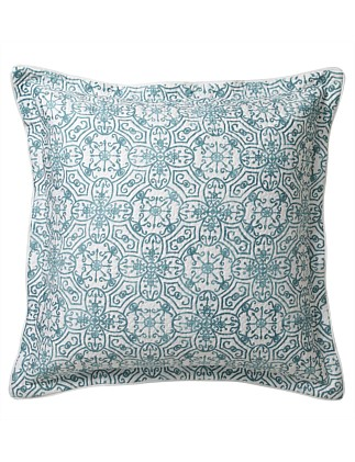 CARNATION JADE QUILTED EUROPEAN PILLOWCASE