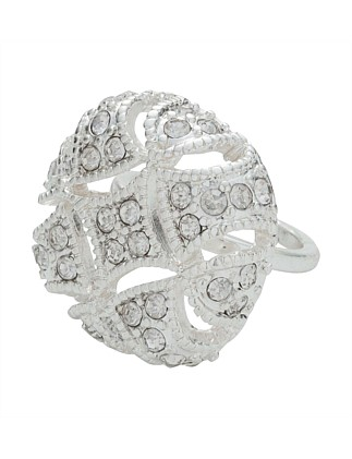 Silver Cushion Ring