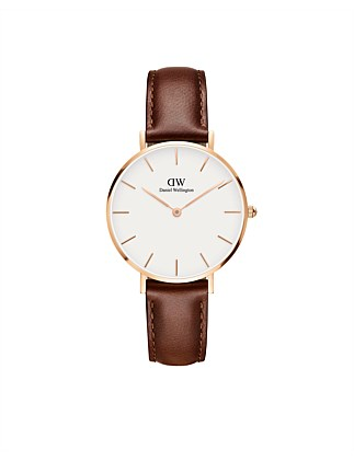 St Mawes White Dial Petite Leather