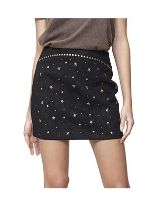 Runaways Studded Suede Skirt