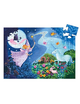 36 PieceFairy And Unicorn 36 Piece Silhouette Puzzle