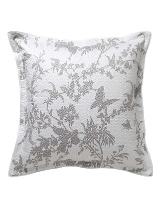 TROPICAL FLORAL LINEN QUILTED EUROPEAN PILLOWCASE