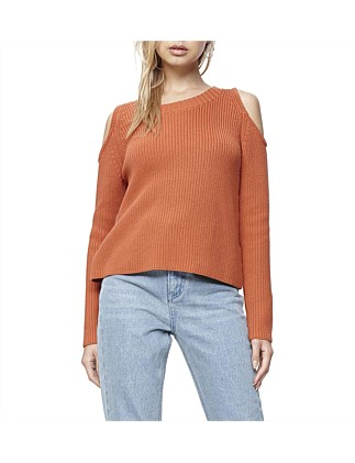 Blind Sided Cold Shoulder Jumper