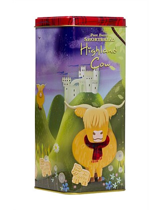 Highland Cow Shortbread Shapes Tin 250G