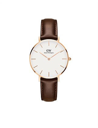 Bristol White Dial Petite Leather