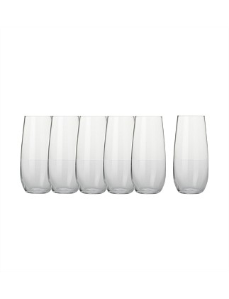 Mansion Stemless Flute Set Of 6