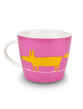 Mr Fox Pink And Orange Mug