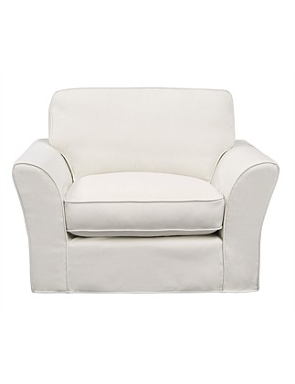 'Maison' Chair - Linara White Beige Fabric
