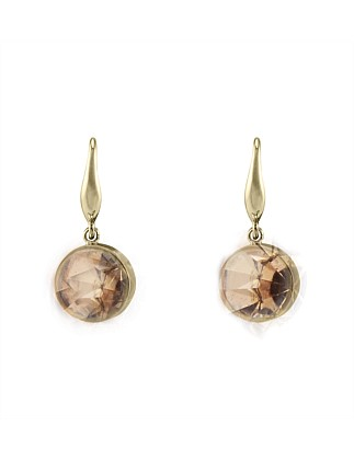 Round Crystal Drop Earring