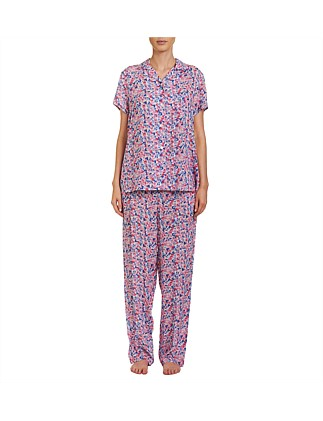 Collette Cap Sleeve Long Pyjama