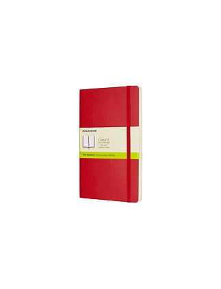 Softcover Notebook Plain Large, Red