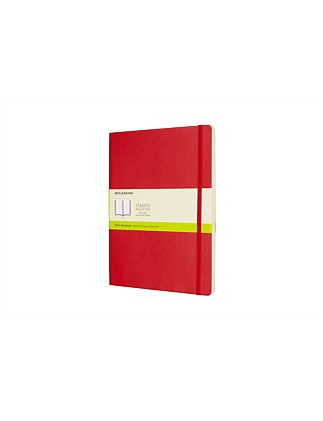 Softcover Notebook Plain Xlarge, Red