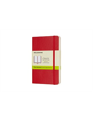 Softcover Notebook Pocket Plain, Red