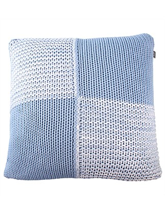 Patchwork Blue Cushion