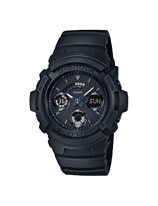 G Shock Duo Blk Out Series W/Time, S/Watch