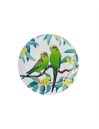 Cashmere Birdsong Plate Budgies