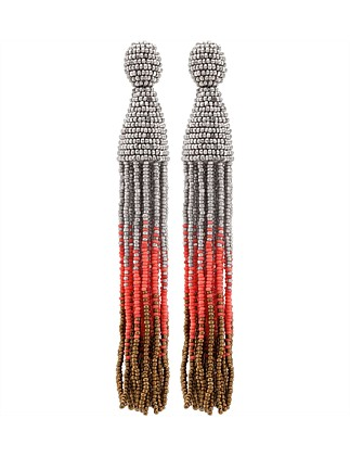 Long Ombre Tassel C Earring
