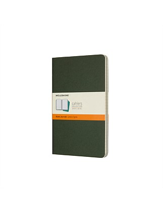 Cahier, Set Of 3, Large, Ruled, Myrtle Green