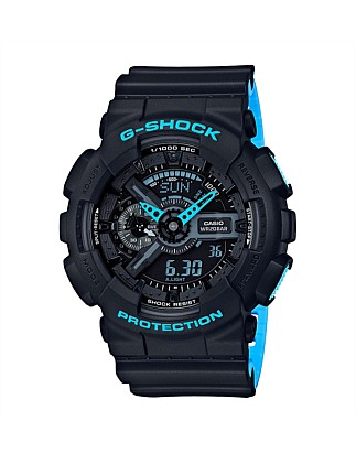 G Shock Duo Layered Neon W/Time, Alarm