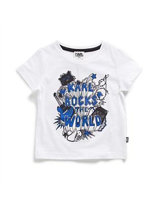 Boys Karl Rocks World Tee (2-6Y)
