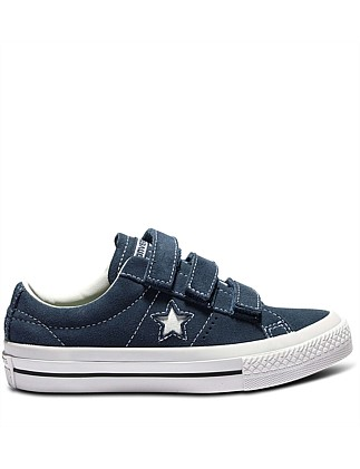 Con Kid One Star 3v Suede Nvy