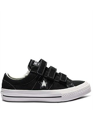 Con Kid One Star 3v Suede Blk