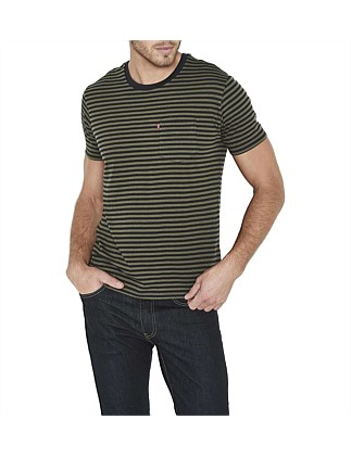 Ss Classic Pocket Tee - Stripe