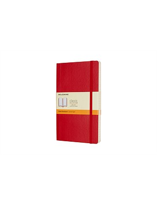 Classic Soft Cover Notebook, Large, Ruled, Red