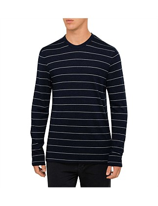 Washable Wool Striped L/S Jsy