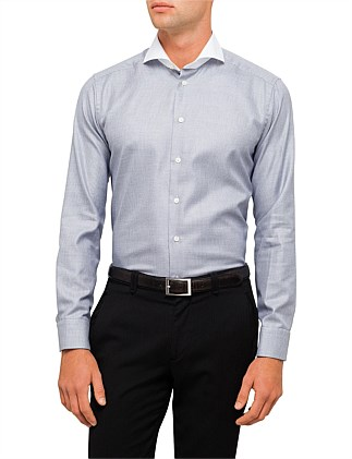 Banker Collar Dobby Slim Fit Shirt