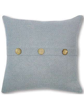 Pale Blue Button Cushion