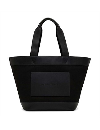 Aw Lg Tote Black Canvas W/ Black Vachetta/Ir