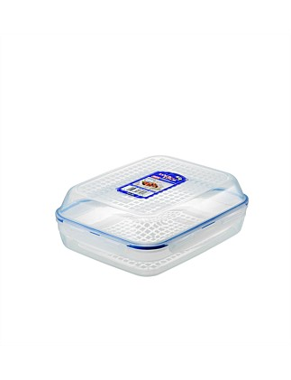 Rectangle Flip Lid Container 1l