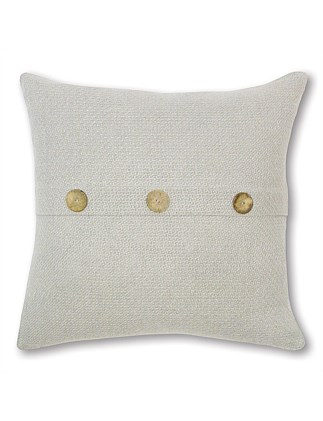 Natural Button Cushion