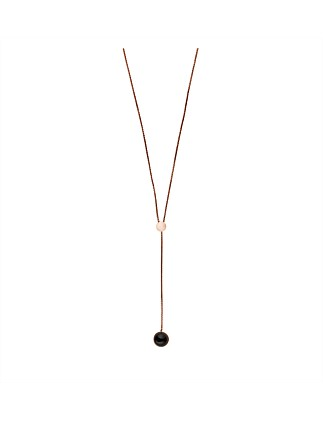 Ellen Stainless Steel Necklace - Rose Gold