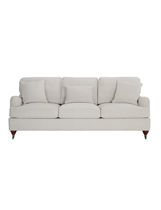 'Claire' 3 Seater Sofa - Cimo Grey Fabric