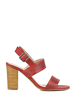 Posey Perforated Two Strap Sandal