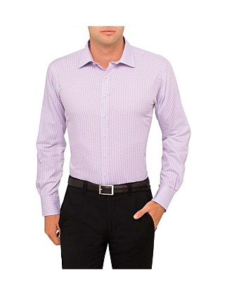 Basket Weave Check Euro Fit Shirt