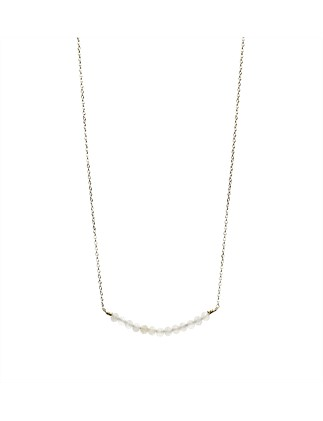 Primrose Necklace In Silver Plated Brass