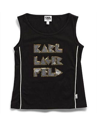 Girls Karl Tank Top (2-6Y)