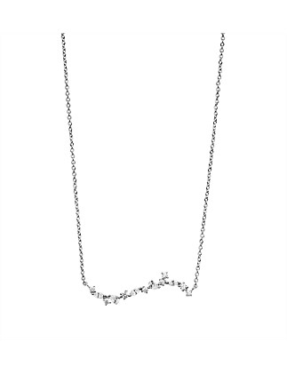 Jessamine Necklace In Silver Plated Brass