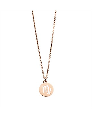 Virgo Necklace In Rose Gold Plated Brass